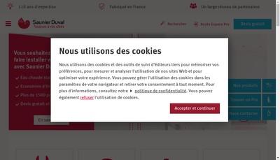 Site internet de Saunier Duval Eau Chaude Chauffage