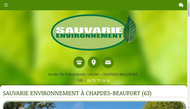 Capture d'écran du site de Sauvarie Environnement