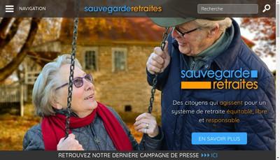 Site internet de Sauvegarde Retraites
