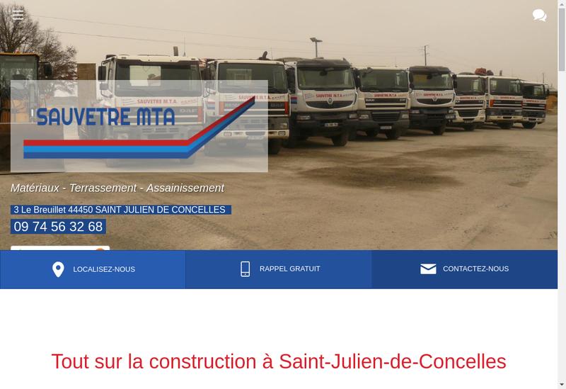 Capture d'écran du site de Sauvetre MTA