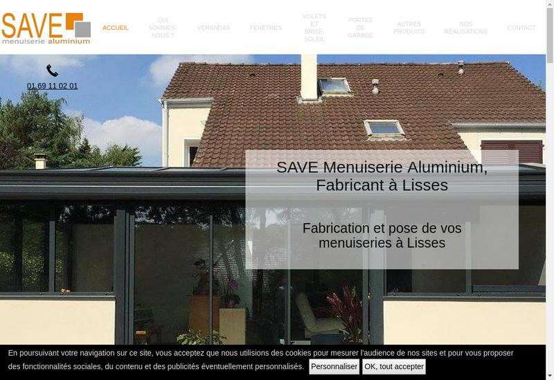 Capture d'écran du site de Save Miroiterie