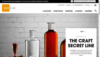 Capture d'écran du site de Tourres et Cie Verreries de Graville
