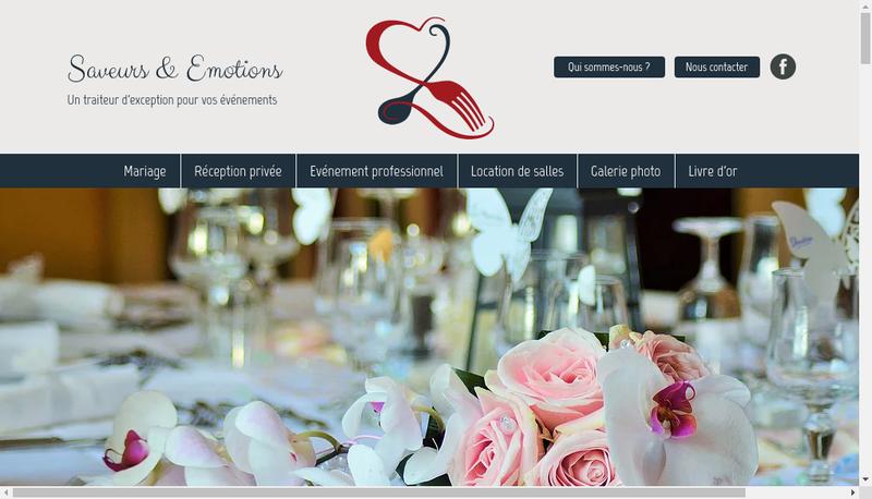 Capture d'écran du site de Saveurs & Emotions