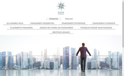 Site internet de Savin Finances