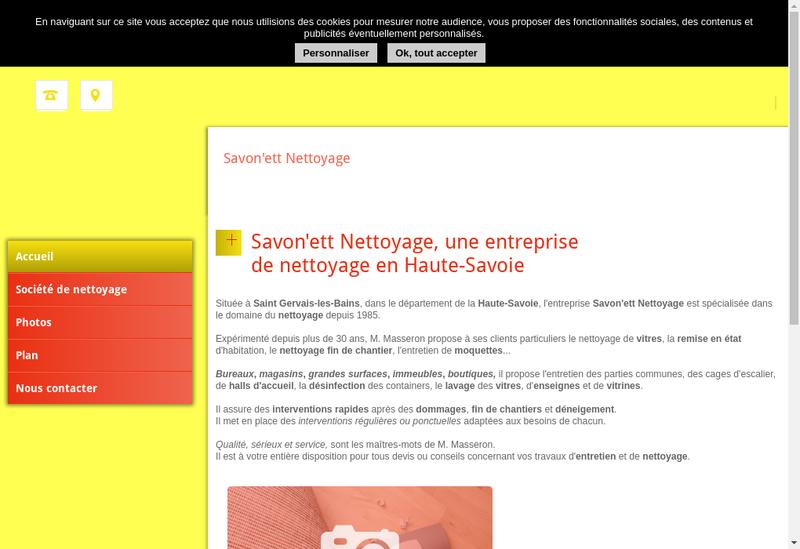 Capture d'écran du site de Savon'Ett Nettoyage