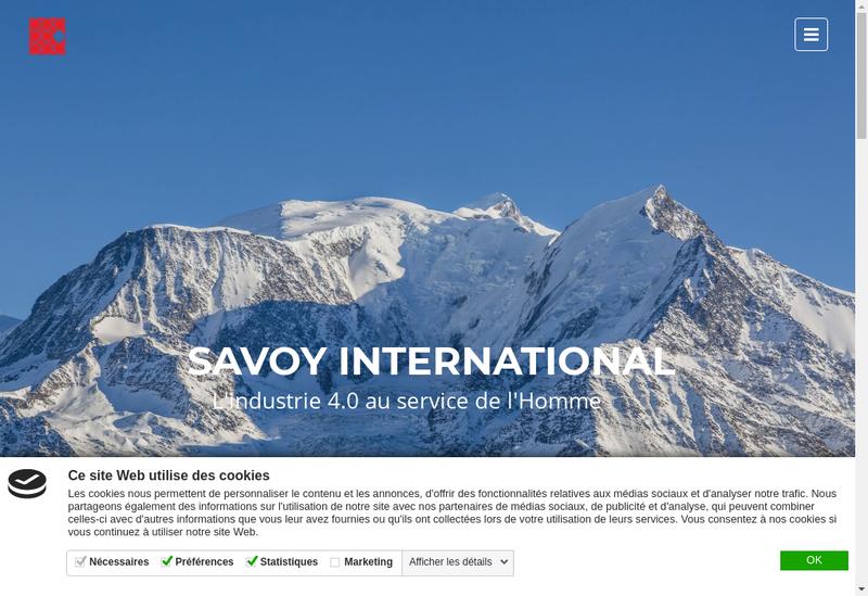 Capture d'écran du site de SA Amd Decolletage