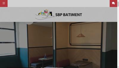 Site internet de Sbp Batiment