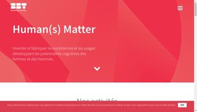 Site internet de Sbt Human(S) Matter