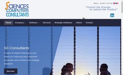 Site internet de Sciences & Computers Consultants