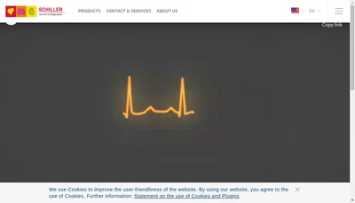Site internet de Schiller Medical