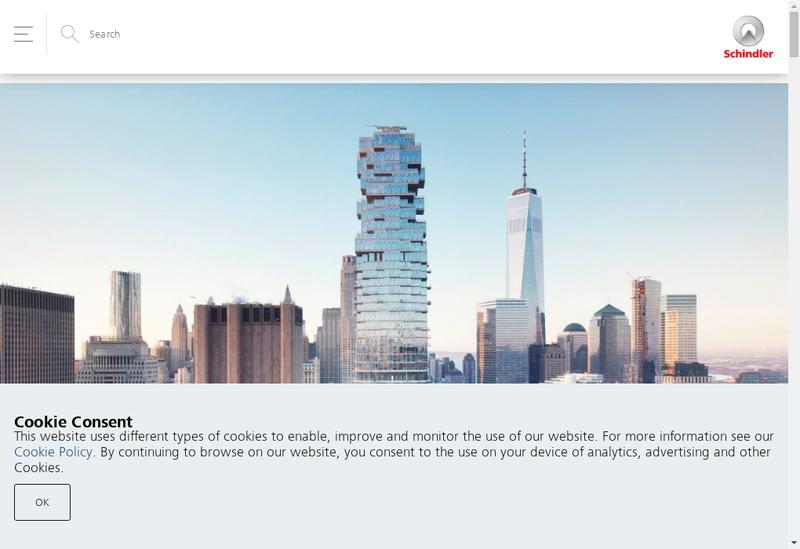 Capture d'écran du site de Schindler