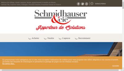Capture d'écran du site de Schmidhauser