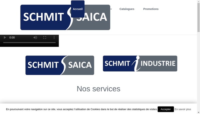 Capture d'écran du site de Schmit Saica