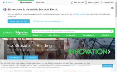 Site internet de Schneider Electric Industries SAS