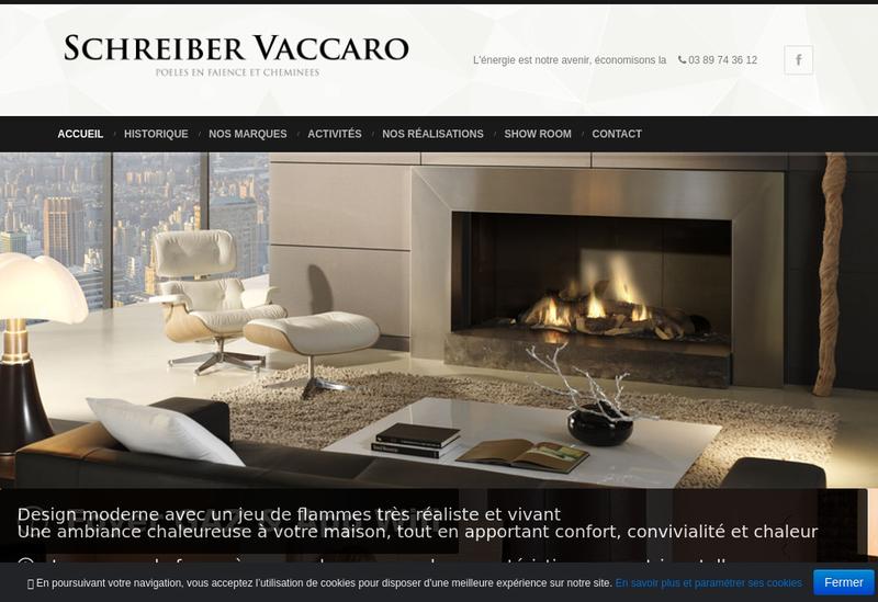 Capture d'écran du site de Schreiber Vaccaro