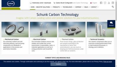 Site internet de Schunk Carbon Technology