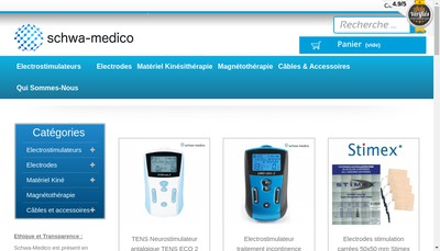 Site internet de Schwa Medico - Sporecup - Selfmed