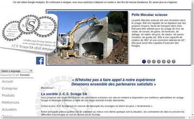 Site internet de J-C-S Sciage France