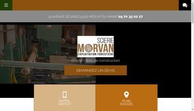 Site internet de Scierie Morvan