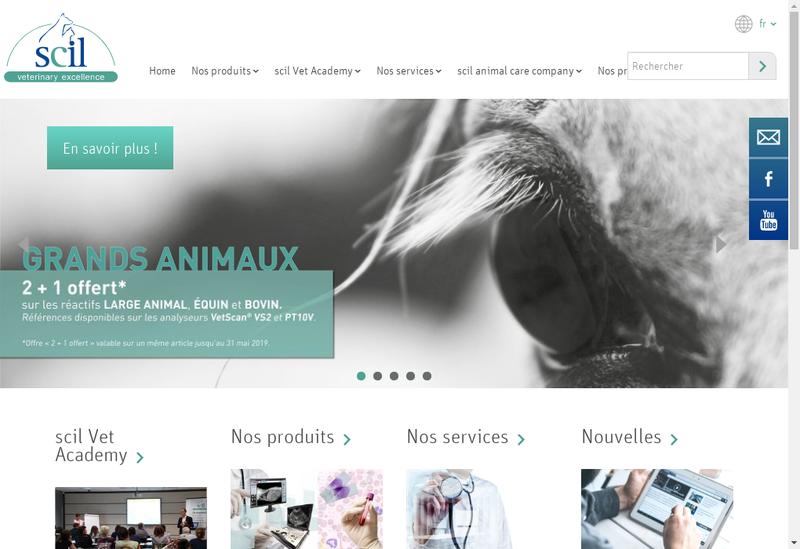 Capture d'écran du site de Scil Animal Care Company