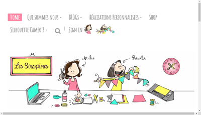 Capture d'écran du site de Yotech