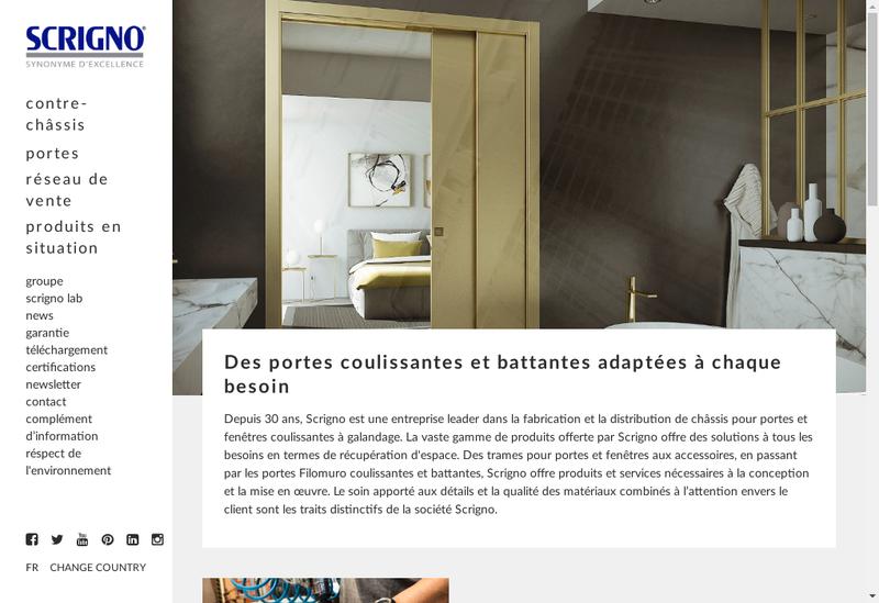 Capture d'écran du site de Scrigno France