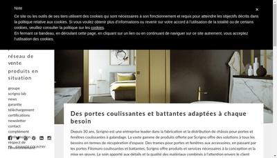 Site internet de Scrigno France