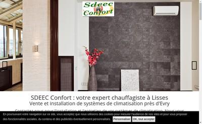 Site internet de Sdeec Confort