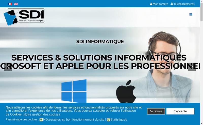 Capture d'écran du site de Service Diffusion Informatique