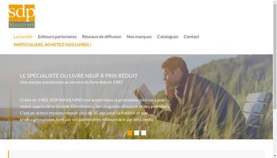 Site internet de Sdp - Maxilivres