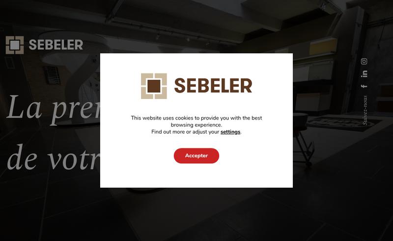 Capture d'écran du site de Sebeler