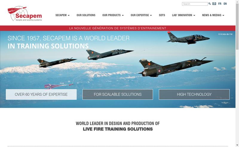 Capture d'écran du site de Secapem