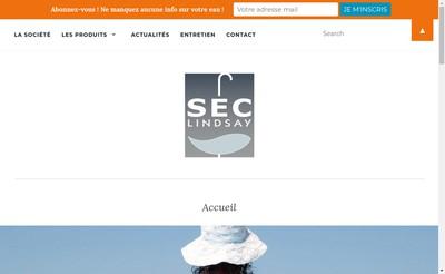 Site internet de SEC Lindsay