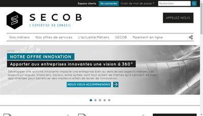 Site internet de Groupe Secob Paris