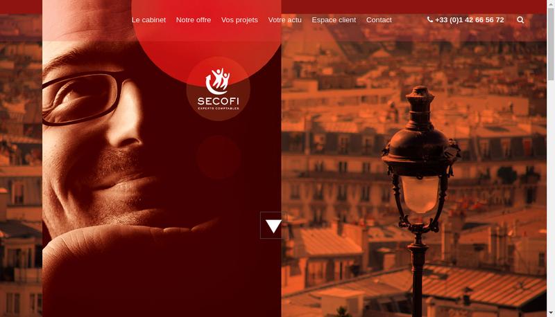 Capture d'écran du site de Secofi