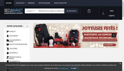 Capture d'écran du site de Secumarket