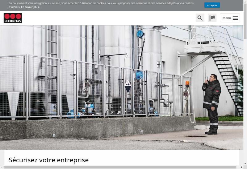 Capture d'écran du site de Securitas Accueil