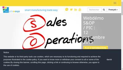 Site internet de Sedapta Osys
