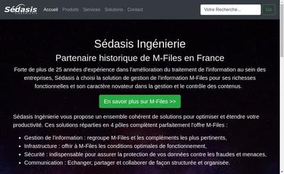 Site internet de Sedasis Ingenierie