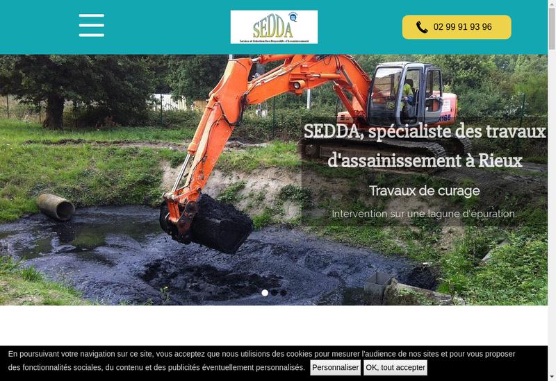 Capture d'écran du site de SARL Sedda