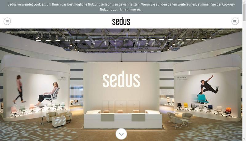 Capture d'écran du site de Sedus