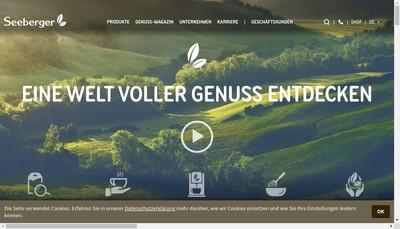 Site internet de Seeberger France