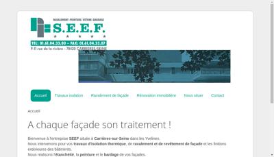 Capture d'écran du site de Societe Eur d'Etancheite Fleischman