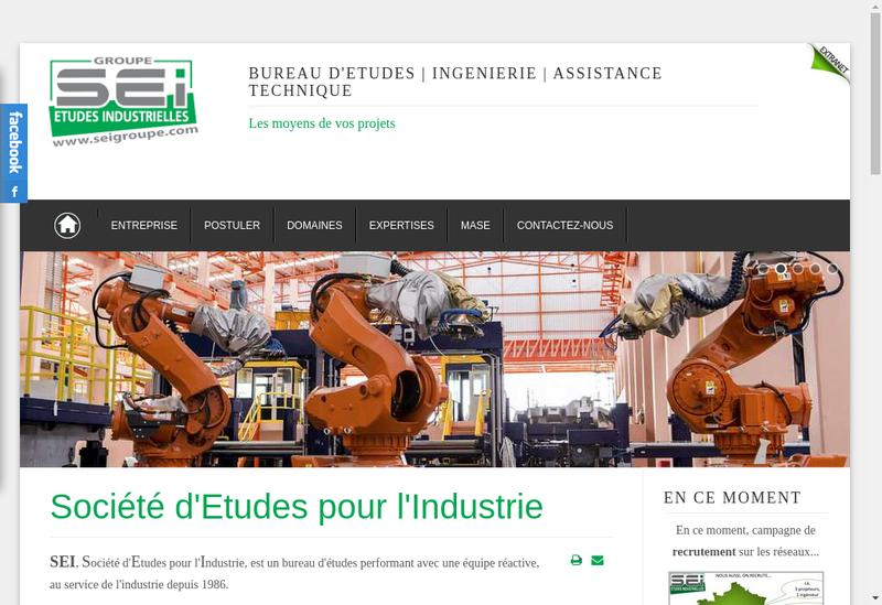 Capture d'écran du site de Societe Etudes Pour Industrie Bourgogn
