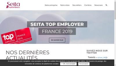 Site internet de Societe Nationale d'Exploitation Industrielle des Tabacs et Allumettes