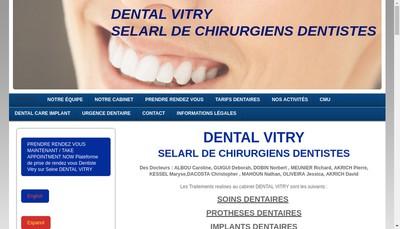 Site internet de Dental Vitry SELARL de Chirurgiens Dentistes