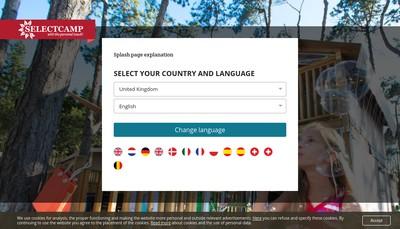 Site internet de Select Camp France