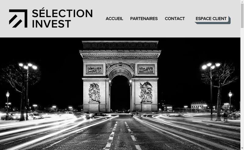 Capture d'écran du site de Selection Invest
