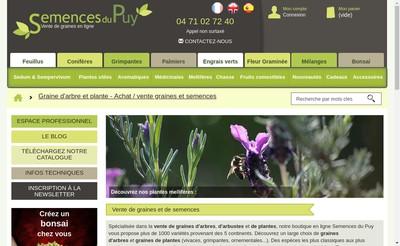 Site internet de Les Semences du Puy