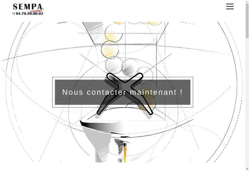 Capture d'écran du site de Sempa